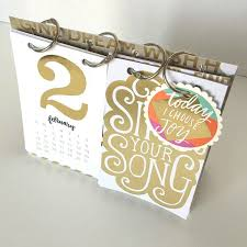 diy 2016 desk calendar project by mambi design team member janna wilson me my