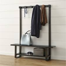 Furniture Modern Wrought Iron Hall Coat Trees With White Entry Hall Bench Coat Rack