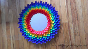 Spoon Mirror Designing Jewels Rainbow Mirror Made Out Of Spoons