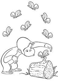 curious george and erflies coloring pages for kids printable free curious george coloring book