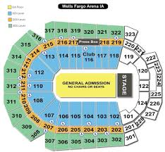 Wells Fargo Arena Des Moines Ia Seating Chart Wells Fargo Arena Seating Chart Wells Fargo Arena Des