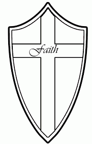 Shield Of Faith Coloring Page Simple Coloring Shield Of Faith