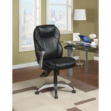 serta black bonded leather executive office chair 43676 the home depot