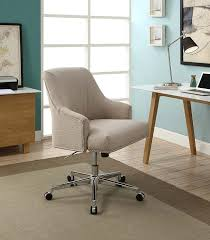 com serta style leighton home office chair twill fabric beige kitchen dining