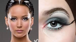 katniss everdeen catching fire white dress makeup