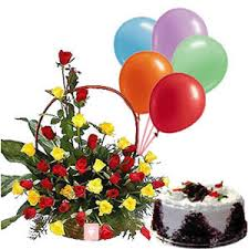 Birthday Flowers Cake Balloons Same Day Flowers Cakes And Balloons