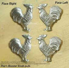 2 pairs ROOSTER Cabinet Knob Dope Chrome Finishing Brass KNOB Pulls