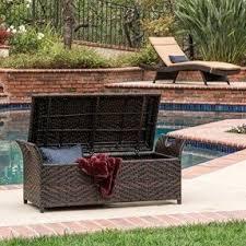brown wicker outdoor furniture dresses: izidora outdoor brown wicker storage ottoman