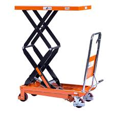 logistec scissor trolley high lift 350kg