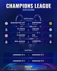 Die auslosung der dritten qualifikationsrunde zur uefa champions league wird am montag, den 19. Fc Bayern Bvb Auslosung Des Cl Viertelfinals Im Liveticker Transfermarkt