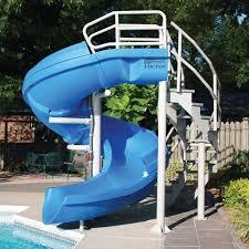 Above Ground Slides diy above ground pool slide round designs within