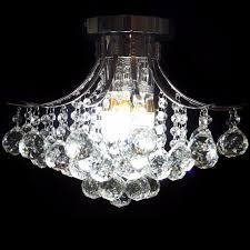 crystal chandelier light pendant lamp lighting flush mount bedroom