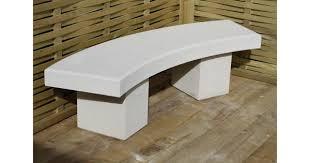 curved stone garden bench uk