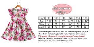 American Princess Size Chart Girls Summer Dress Kids Clothes 2019 Brand Baby Girl Dress Fox Print Princess Dress Children Clothing