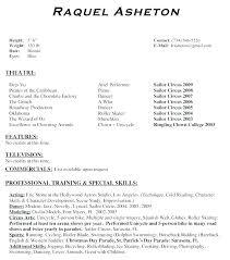 Theater Resume Template Extraordinary Theatre Resume Examples Theatre Resume Sample Theatre Resume Example