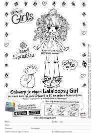 Kleurplaat Lalaloopsy Girl 1 Kleurplatennl