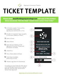 Theatre Invitation Templates Free Free Printable Ticket Templates Raffle Template Admission Strand