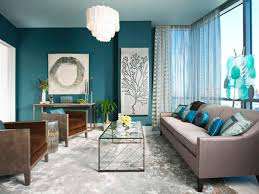 Teal Blue Living Room Photos Rhonda Vandiver White Hgtv