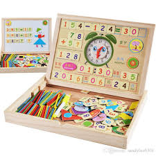 Wooden Math Games Multifunctional Digital Boxkids Toys Learning Mathematics Games 55