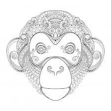 Monkey Advanced Coloring Page Kidspressmagazinecom