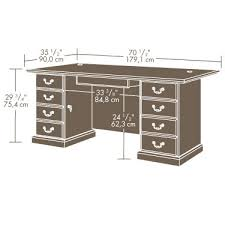 office desk size. Sauder Executive Desk Office Size E