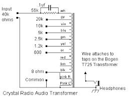 dave s homemade radios crystal radio matching transformers bogen transformer crystal radio schematic