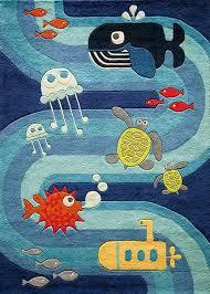 kids playroom rugs ocean life rug cool kid childrens