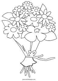 Disegno Di Mazzo Fiori Da Colorare Per Bambini The Baltic Post