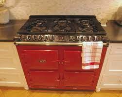 White Kitchen With Red Aga Range