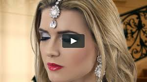 black smokey eye evening party makeup indian asian stani arabic bengali mov on vimeo