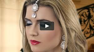 black smokey eye evening party makeup indian asian stani arabic bengali mov