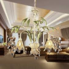 colorful pink and soft green chandelier add style and shine to your home