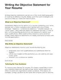 Whats A Good Objective For A Resume Best Of 20 Resume Career