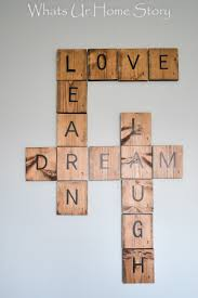 Scrabble Letter Wall Decor Diy Scrabble Tiles Whats Ur Home Story