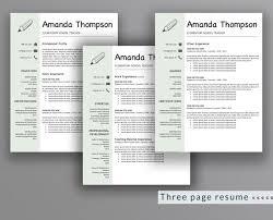 Teacher Resume Template Amanda Thompson Outperforming Designs