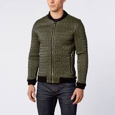 Coated Quilted Sports Jacket Green Xl Ron Tomson