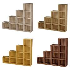 1 2 3 4 tier wooden bookcase shelving display storage wood shelves unit shelf