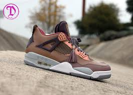 louis vuitton 4s. air jordan 4 \u201cpatchwork louis vuitton don\u201d by dank customs 4s n