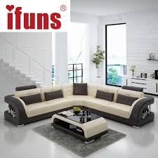 IFUNS China export modern design l shape sectional sofa set living room  furniture corner chaise top grain italian leather (fr)-in Living Room Sofas  from ...