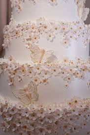 Cakes Desserts Photos Cake With Sugar Flowers Butterflies