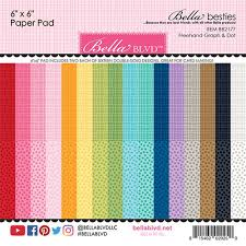 Bella Blvd Bella Besties Collection 6 X 6 Paper Pad Graph And Dot Rainbow