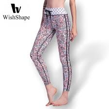 Patterned Yoga Pants Enchanting Sexy Lace Up Workout Leggings Push Up Patterned Running Tights Sexy