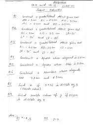 class viii ch 4 and ch 16 maths assign aug 2017