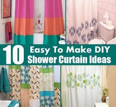 diy shower curtain ideas.  Diy 10 Easy To Make DIY Shower Curtain Ideas Inside Diy E
