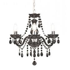 kliving tuscany 3 light ceiling light acrylic droplets chandelier black