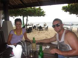 a sister s story the phone call that changed my life forever nicole and her partner jamie enjoying a relaxing lunch at their resort during their first few days in koh samui