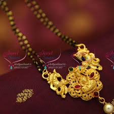 temple laxmi nakshi mangalsutra indian traditional auious