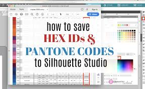 5 printable pantone color charts for word and pdf. How To Save Hex Ids And Pantone Colors In Silhouette Studio V4 3 Silhouette School