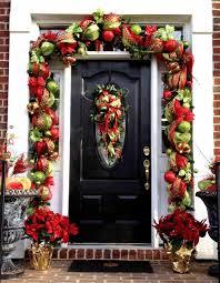 how to hang garland around front doorhow to hang garland around front door  bolehwin