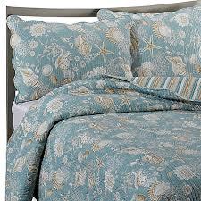 Natural Shells Reversible Quilt in Blue/Beige - Bed Bath & Beyond & Natural Shells Reversible Quilt in Blue/Beige Adamdwight.com